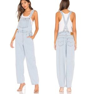 NWT Levi's distressed baggy denim overall
